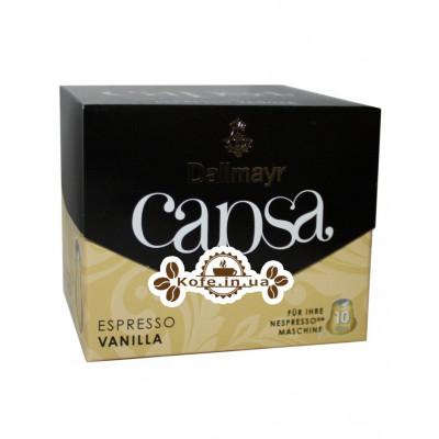Кофе Dallmayr Nespresso Capsa Espresso Vanilla в капсулах 10 х 5,6 г (4008167011606)
