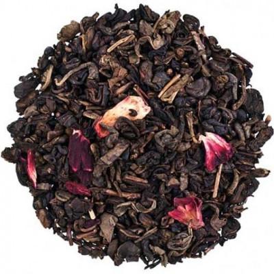Земляничный с ароматом сливок (чай зеленый) 100 г.