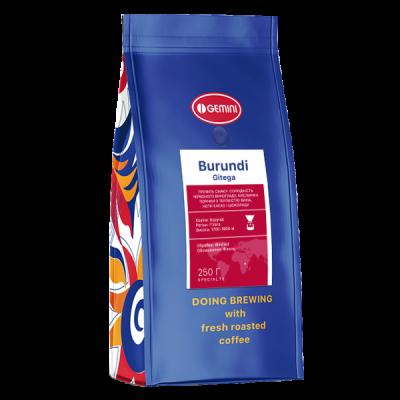Кофе Burundi Gitega моносорт (Джемини Бурундия Гитега)